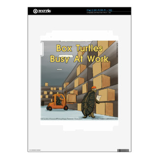 Funny Box Turtles At Work Skin For The iPad 2