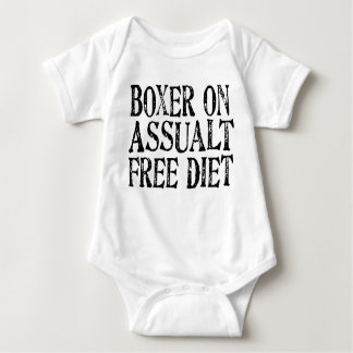 Funny Boxer On Assualt Free Diet Baby's Baby Bodysuit