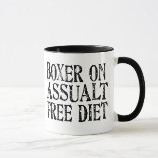 Funny Boxer On Assualt Free Diet Coffee Mug