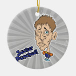 funny boxer sucker punched cartoon ornaments