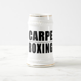 Funny Boxers Quotes Jokes : Carpe Boxing Beer Stein