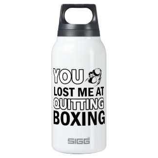 Funny boxing designs 10 oz insulated SIGG thermos water bottle