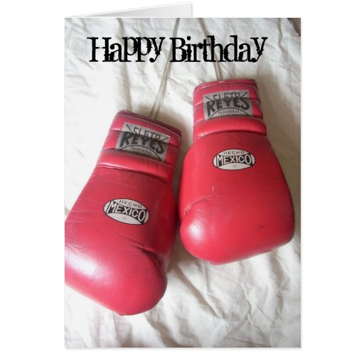 Funny Boxing Gloves Birthday Card