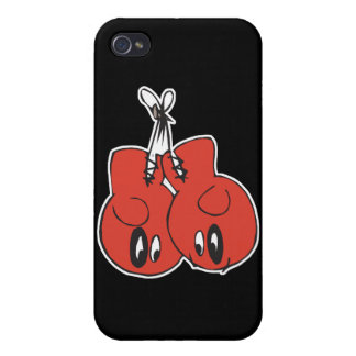 funny boxing gloves with black eyes cartoon iPhone 4/4S case