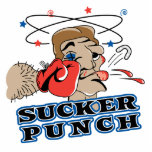 funny boxing sucker punch cartoon photo sculpture