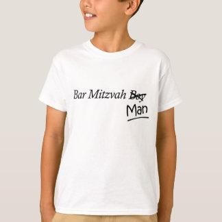 Funny Boy-to-Man Bar-Mitzvah Gift T-shirt