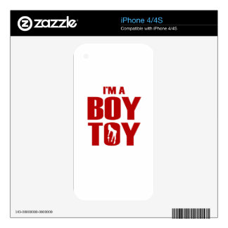 Funny Boy Toy Decals For iPhone 4S