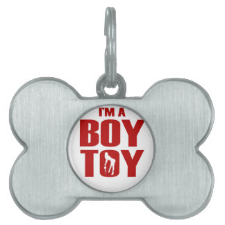 Funny Boy Toy Pet Name Tag