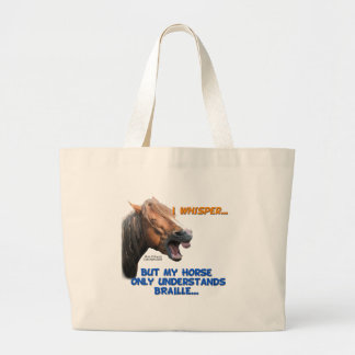 Funny Braille Horse Tote Bag
