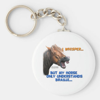 Funny Braille Horse Keychain