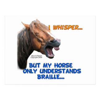 Funny Braille Horse Postcard