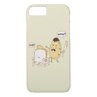 Funny Bread and Butter Haircut Cartoon iPhone 7 Case