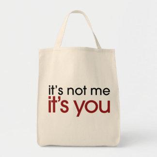 Funny breakup grocery tote bag