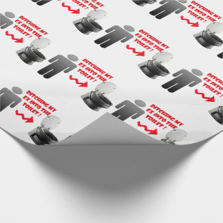 Funny breakup ex boyfriend into the toilet wrapping paper