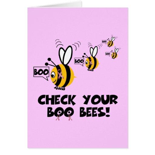 Funny breast awareness greeting card
