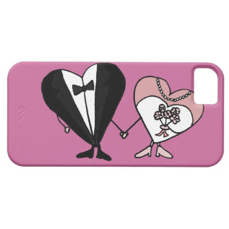 Funny Bride and Groom Hearts Art iPhone 5/5S Covers