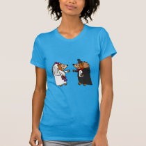 Funny Bride and Groom Hedgehog Wedding Art T-Shirt