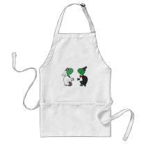 Funny Bride and Groom Turtle Wedding Design Adult Apron