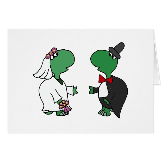 Funny Bride and Groom Turtle Wedding Design Cards