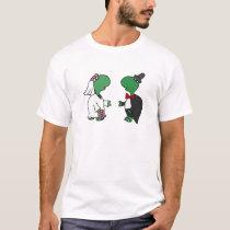 Funny Bride and Groom Turtle Wedding Design T-Shirt