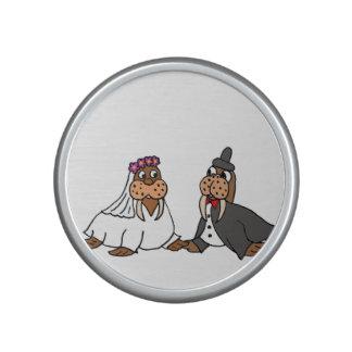 Funny Bride and Groom Wedding Walruses Bluetooth Speaker