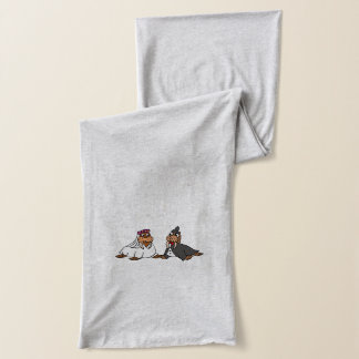 Funny Bride and Groom Wedding Walruses Scarf