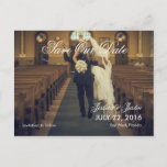 funny bride kidnapping/Save The Date Announcement Postcard