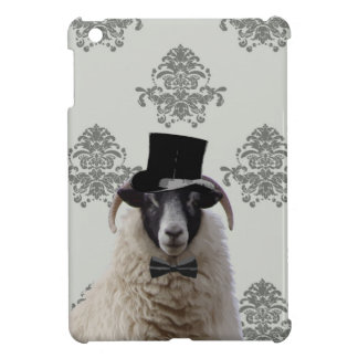 Funny bridegroom sheep in top hat iPad mini cases