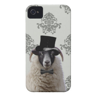 Funny bridegroom sheep in top hat iPhone 4 Case-Mate case