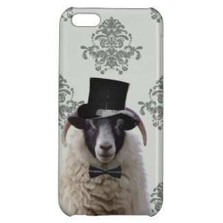 Funny bridegroom sheep in top hat iPhone 5C cover