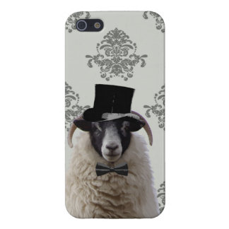 Funny bridegroom sheep in top hat iPhone SE/5/5s cover
