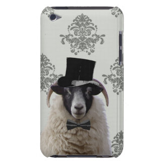 Funny bridegroom sheep in top hat iPod touch case