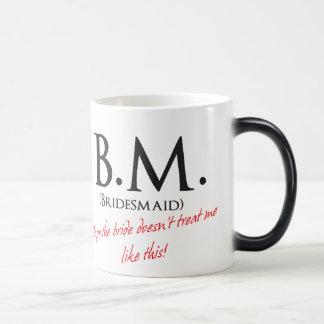 Funny Bridesmaid 11 Oz Magic Heat Color-Changing Coffee Mug