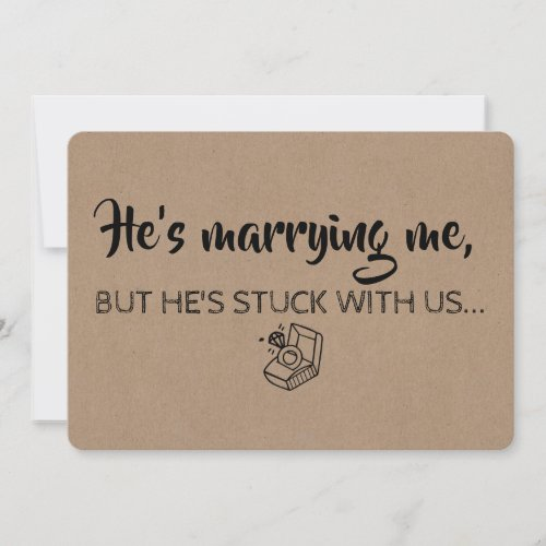 Funny Bridesmaid  Maid of Honor Proposal Invitation