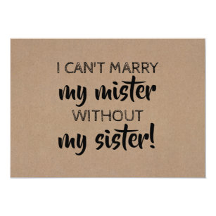 picture about I Can't Say I Do Without You Free Printable named Will Oneself Be My Bridesmaid Playing cards Zazzle