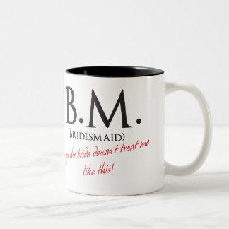 Funny Bridesmaid Two-Tone Coffee Mug
