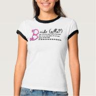 Funny Bridezilla T Shirt - Black White Pink shirt