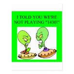 funny bridge player design postcard