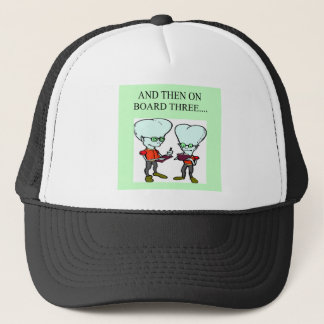 funny bridge player design trucker hat