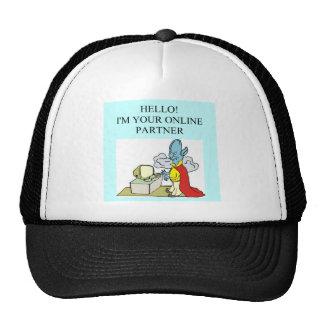 funny bridge player design trucker hat