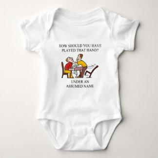 funny bridge player joke design baby bodysuit