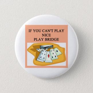 funny bridge player joke design button