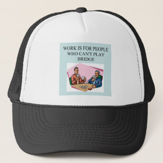 funny bridge player joke design trucker hat