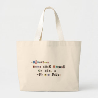 Funny Bring Back Summer Ransom Note Collage Large Tote Bag