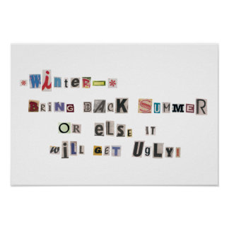 Funny Bring Back Summer Ransom Note Collage Poster