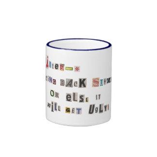 Funny Bring Back Summer Ransom Note Collage Ringer Mug