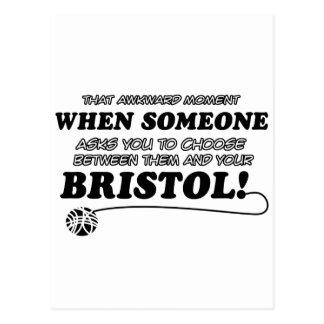 Funny bristol designs postcard