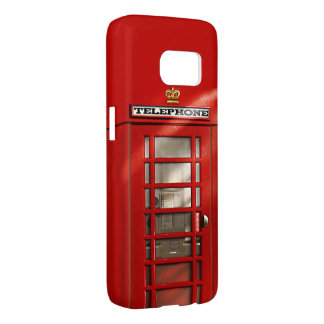 Funny British City of London Red Phone Booth Samsung Galaxy S7 Case