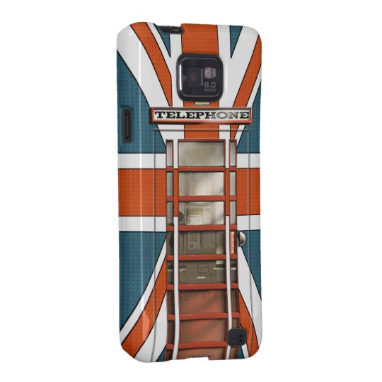 Funny British Flag Classic Phonebox Galaxy SII Cover