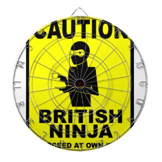 Funny  British Ninja Dart Boards